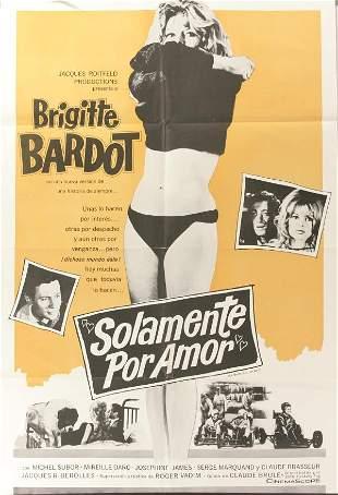 Bridgitte Bardot, Poster. Solamente Por Amor, 196