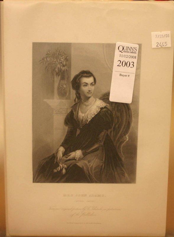 2003: 20 engravings [1856]: Martha Washington's friends