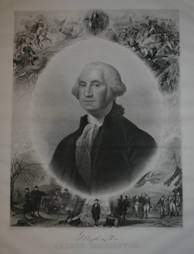 2007: 7 George Washington engravings, lithos, etc.