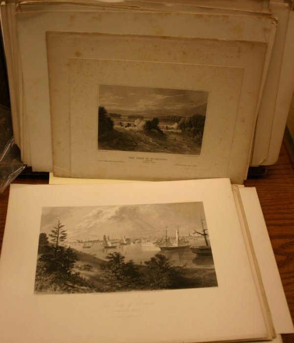 2013: ~73 lithos, engravings: Midwest, far Western view