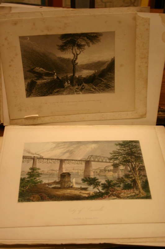 2014: ~74 lithos/engravings: Landscape & sites in South