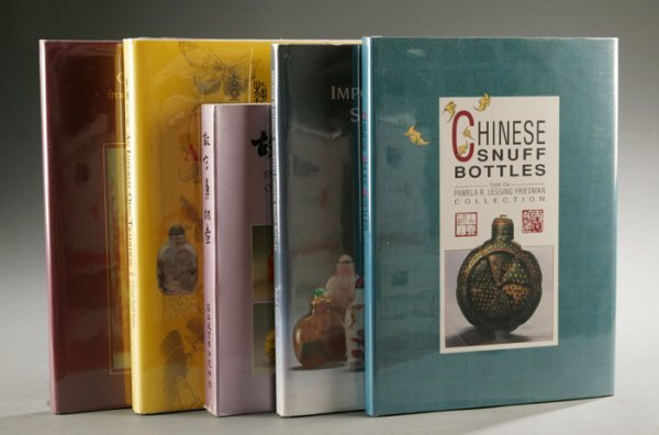 1006: 5 books on Chinese snuff bottles, 1 signed & insc