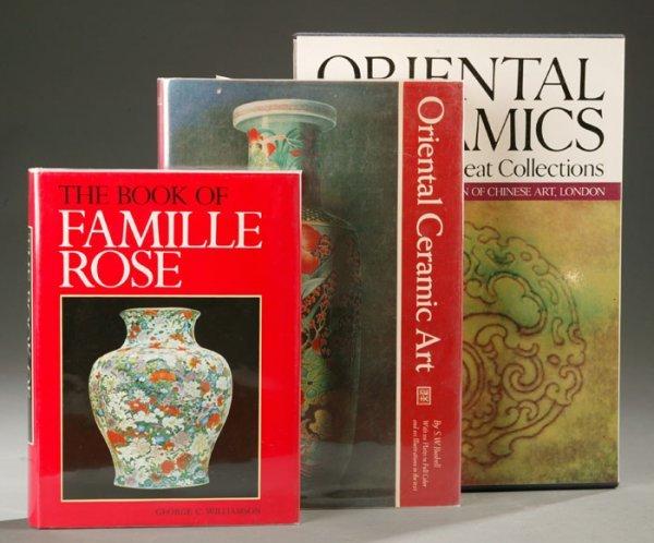 1018: 3 books on ceramics. Williamson, Bushell, Medley.