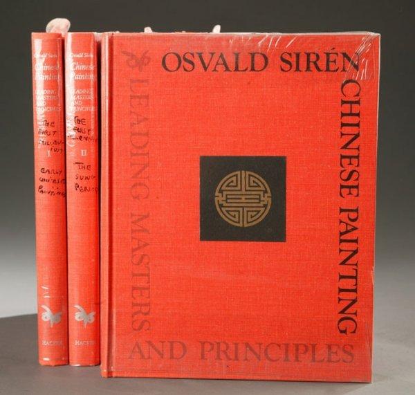 1020: Osvald Siren, CHINESE PAINTING, 7 vols, 1973.