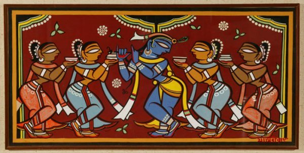 324: 324: Jamini Roy (1887-1972) Bengali Signed tempera