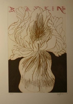 17: Boykin color etching: ''Baskin,'' pencil sgd, 48/13