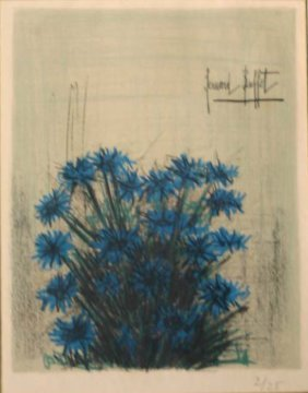 Bernard Buffet, Blue Flowers, #2 Of 25.