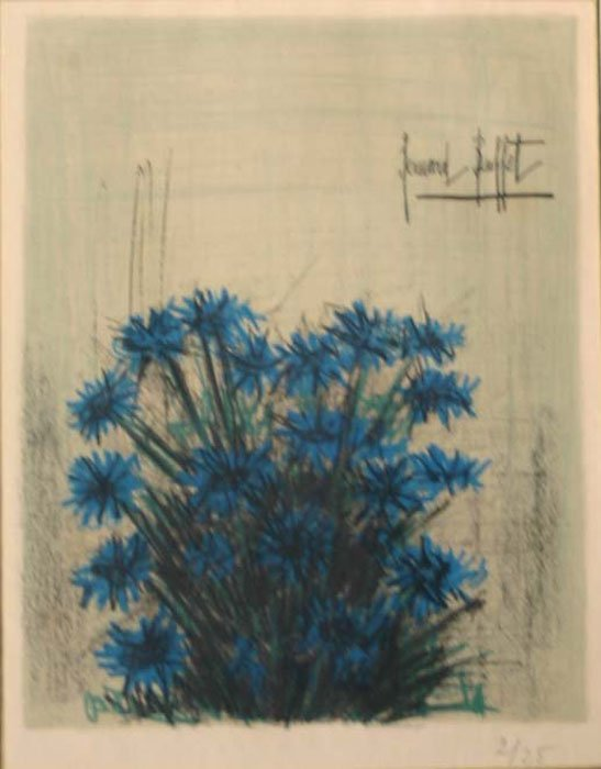 18: Bernard Buffet, blue flowers, #2 of 25.