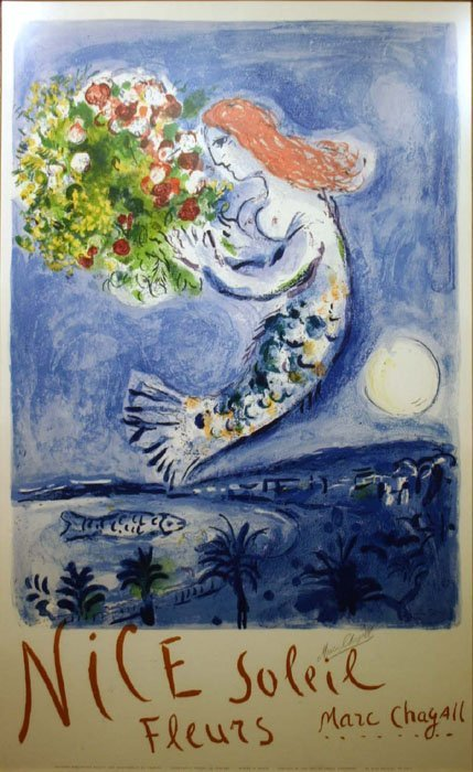 20: Marc Chagall, ''Bay of Angels,'' color lithograph.