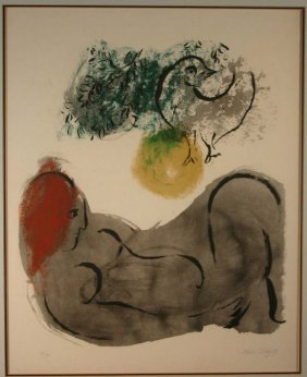 21: Marc Chagall, color image, signed, #4 of 75.