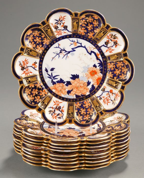 183: 10 Royal Crown Derby Plates in the Imari Pattern