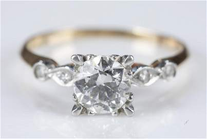 1.40 ctw Diamond and 14k gold ring.