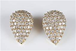440 ctw Diamond and 14k gold pave clip earrings