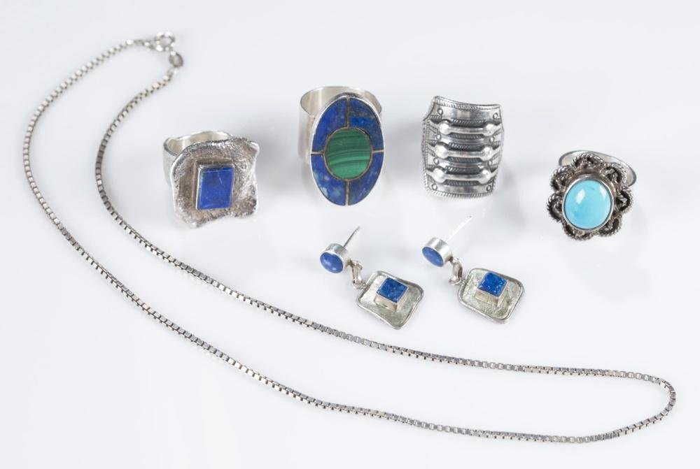 6 Pieces of Sterling silver jewelry.