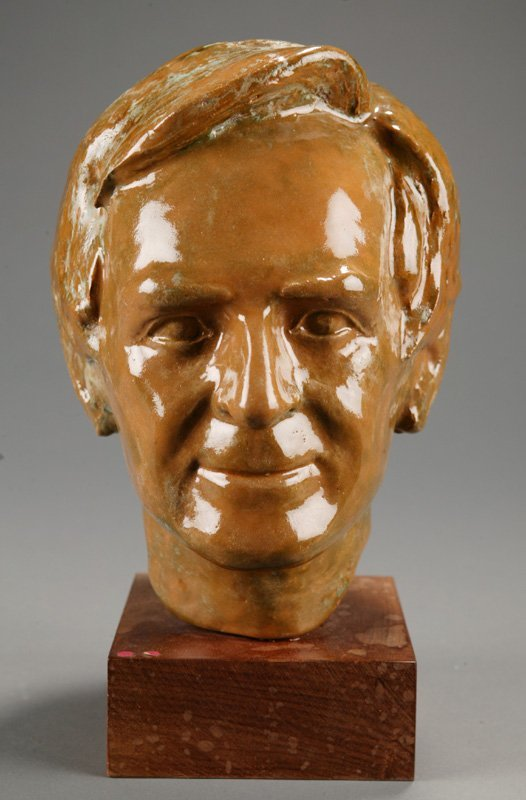 3110: Szczepanski, Charles Z. Sculpture of man's head