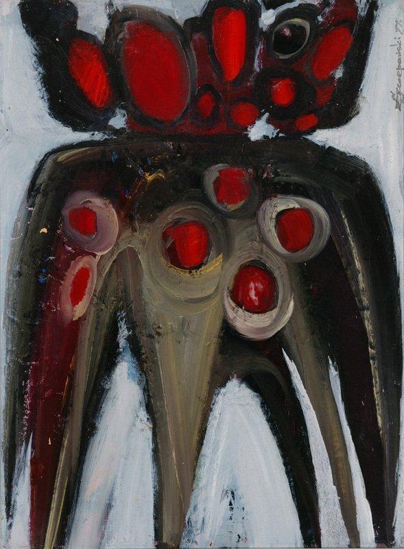 3115: C. Szczepanski Oil on canvas Polish Fiber Bomb