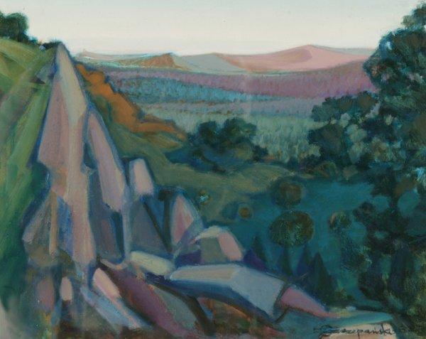 3119: C. Szczepanski Appalachian Mountains Oil on canva