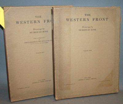 4011: Bone, Muirhead. The Western Front. 2 slipcases, c