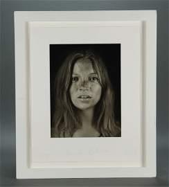 Chuck Close. Photo of Kate Moss. #5/25. Sgd.