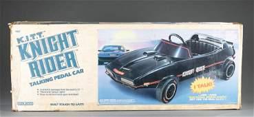Rare Caleco Knight Rider K.I.T.T. pedal car, MIB