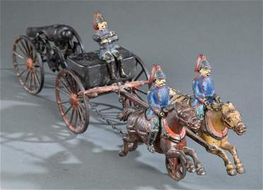 Cast iron flying artillery carriage