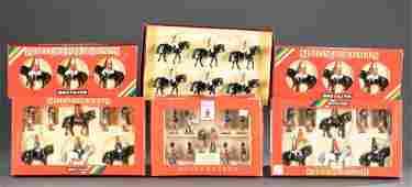5 sets of Britains Ltd. die-cast toy soldiers OB