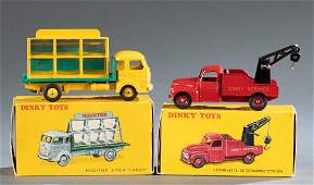 2 French Dinky Toys trucks in original boxes