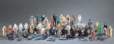 45 1970-80s Kenner Star Wars action figures.