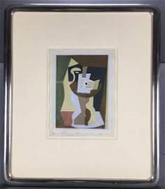 Pablo Picasso. Guitare et Partition Sur Gueridon.