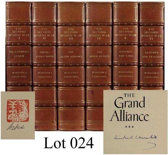 24: Churchill, Winston S. The Second World War. 6 Vols