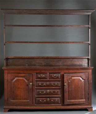 Welsh oak dresser or cupboard, 19th c.