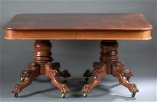 Renaissance Revival double pedestal table.