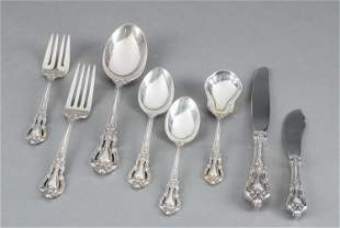 Lunt Eloquence sterling silver flatware, 67 pcs