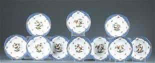 """10 Herend """"Rothschild BIrd"""" salad plates."""
