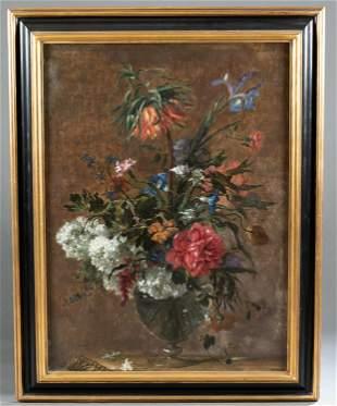 Antoine Monnoyer,  Attrib., Flowers, 17th/18th c.
