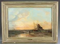 Charles Leickert, Sailing Scene, 19th c., O/P.