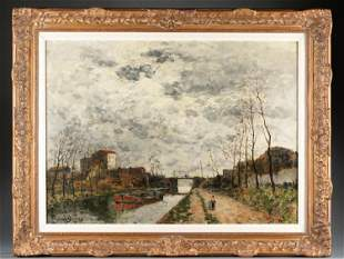 Frank Myers Boggs, Canal Scene, 19th/ 20th c.