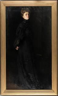 American School, Isabella Gardner, 19th c., O/C.
