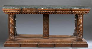 Renaissance revival marble console table, 19th c.