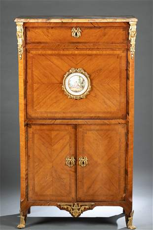 French Louis XV style secretaire abattant desk.