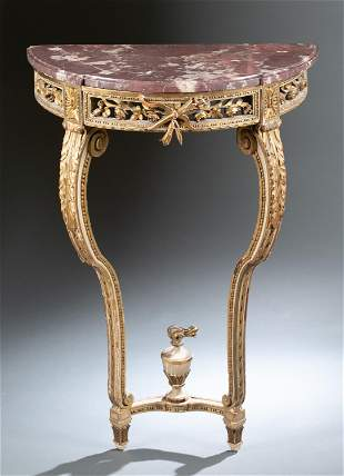 Louis XVI style demilune console table