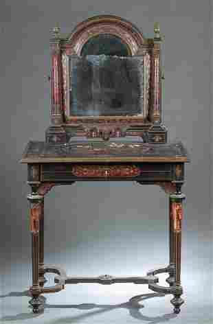 Napoleon III tortoiseshell boulle work vanity.