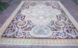 French Aubusson rug, 20th c.
