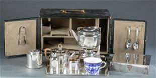 Victorian Leuchars & Son traveling tea set.
