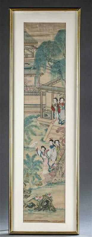 Chinese scroll painting, 19th c.