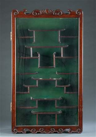 Chinese hardwood display cabinet.