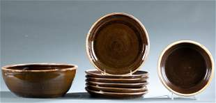 Norman Smith, 8 bowls and plates.