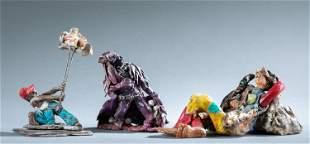 Craig Black, 3 clay figures.