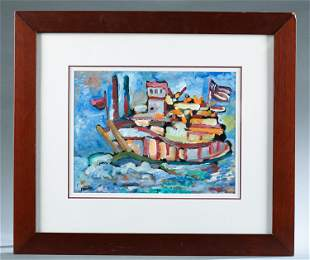 Larry Nevil, Boat, 1991, O/P.