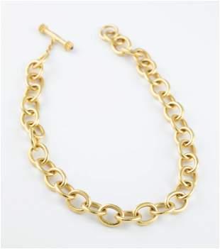 19k Elizabeth Locke link necklace
